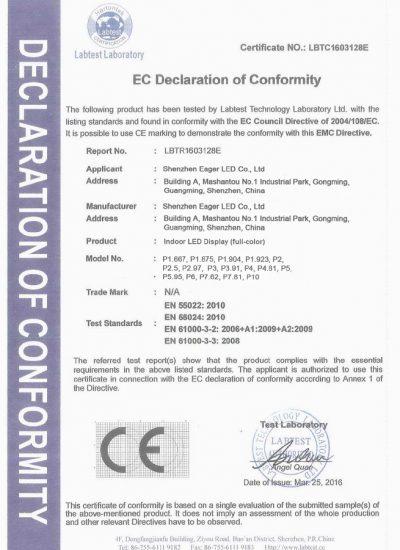 CE EMC IN