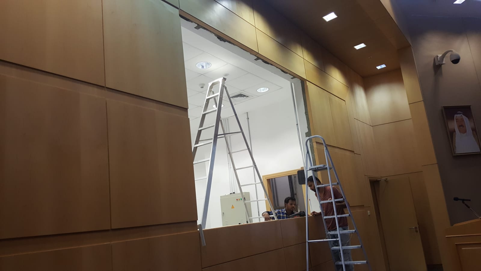 LED screen installation place is empty