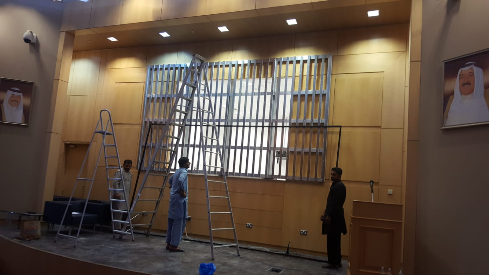 LED screen Frame structure is almost ready