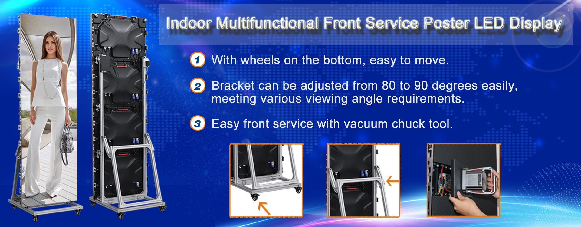 Indoor Front Service Poster LED Display